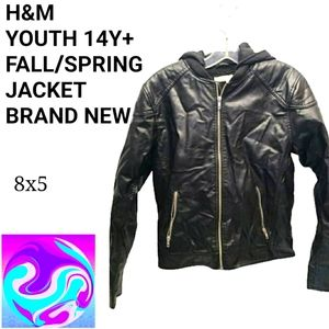 NEW with tag H & M pleather jacket